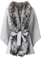 N.Peal fox fur front cape