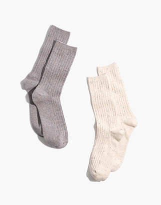 Madewell Two-Pack Rainbow Flecked Trouser Socks