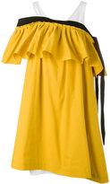 Isa Arfen cold shoulder ruffle dress