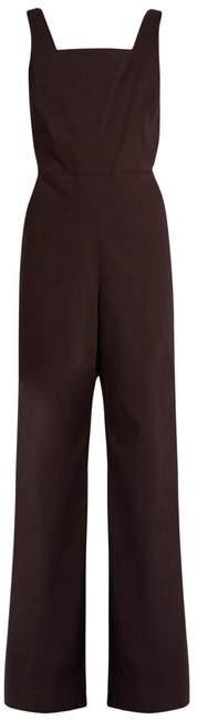 Rosie Assoulin Wide-leg cotton-blend twill jumpsuit