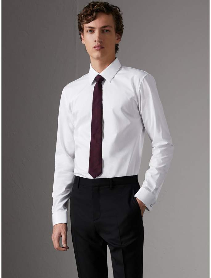 Burberry Slim Fit Double-cuff Cotton Dress Shirt