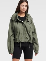 DKNY Cropped Hooded Cargo Jacket