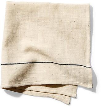 Bole Road Textiles Set of 4 Abren Dinner Napkins - Onyx/Ecru