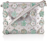 Manley Aubree Cross Body Leather Bag - Embellished - Silver & Mint