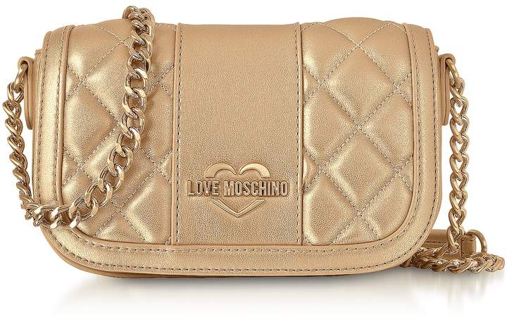 4dba741c228ef Love Moschino Metallic Leather Handbags - ShopStyle