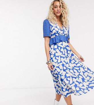 Twisted Wunder printed midaxi dress in abstract floral