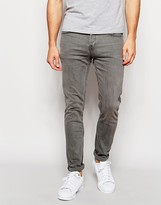 ONLY & SONS Washed Gray Jeans In Super Skinny Fit