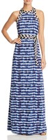 Tory Burch Pelton Tie Dye Stripe Maxi Dress