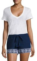 Vineyard Vines Shell Floral Embroidered Shorts