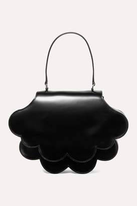 Simone Rocha Flower Bean Glossed-leather Tote - Black