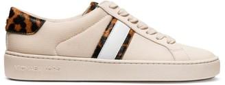 Michael Kors Irving Stripe Leopard-Print Calf Hair Sneakers