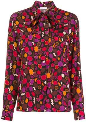 P.A.R.O.S.H. graphic print blouse