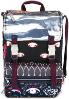 Kenzo multi icon backpack - men - Leather/Polyester - One Size