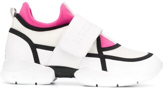 MSGM Logo Touch Strap Sneakers
