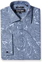 Stacy Adams Men's Paisley Classic Fit Dress Shirt