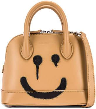 Balenciaga XXS Happy Ville Top Handle Bag in Beige | FWRD