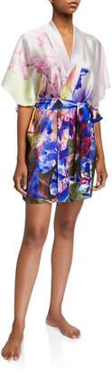 Christine Lingerie South Pacific Short Silk Robe