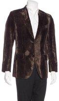 Etro Leopard Print Velvet Sport Coat