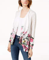 INC International Concepts I.N.C. Floral-Hem Cardigan, Created for Macy's