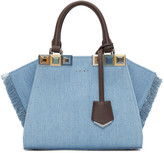 Fendi Blue Denim Mini 3Jours Tote