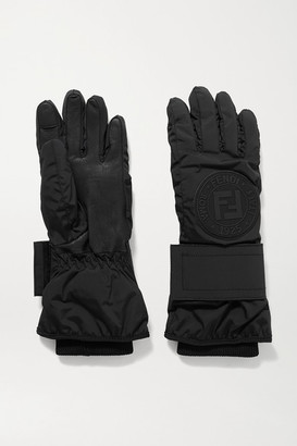 Fendi Appliqued Shell And Leather Ski Gloves