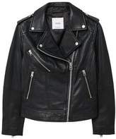 MANGO Leather biker jacket