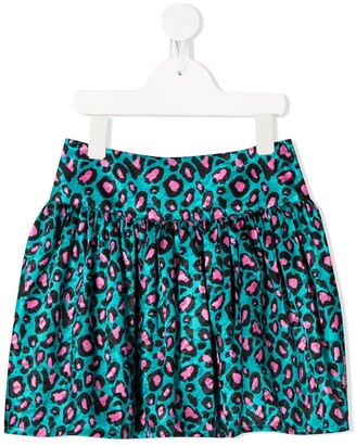 The Marc Jacobs Kids Cheetah-Print Pleated Skirt