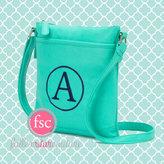 Etsy Monogrammed purse , mint purse , personalized purse , sorority purse , summer crossbody bag , teen p