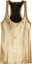 Isabel Marant Felton metallic perforated leather top