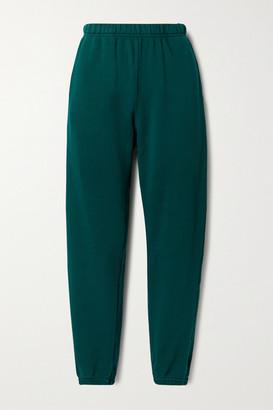 LES TIEN Cotton-jersey Track Pants - Emerald