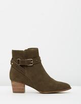 Walnut Melbourne Strap Boots