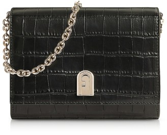 Furla Croco Embossed Leather 1927 Mini Crossbody Bag 18