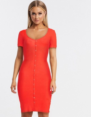Brave Soul harper button through dress in rib