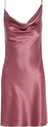 Cushnie Chain-trimmed Draped Silk-satin Mini Slip Dress