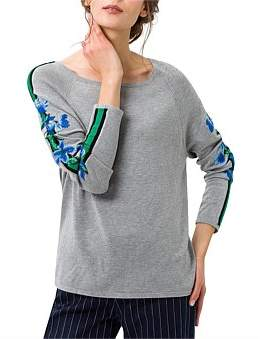 Brax Liz Floral Embroidery Arm Knit