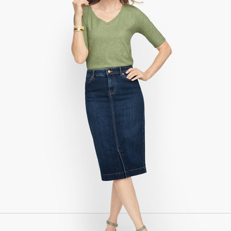 Talbots Denim Pencil Skirt