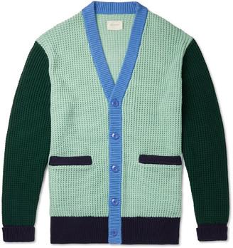 Aimé Leon Dore Colour-Block Cotton Cardigan