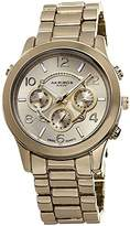 Akribos XXIV Women's AK648YG Ultimate Swiss Multifunction Gold-Tone Bracelet Watch