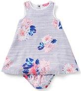 Joules Baby/Little Girls 12 Months-3T Bunty Floral Stripe Woven Dress