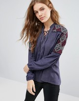 Hazel Embriodered Sleeve Blouse