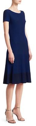 St. John Charlotte Knit Fit Flare Dress