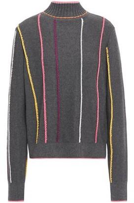 Rag & Bone Embroidered Cotton-blend Turtleneck Sweater