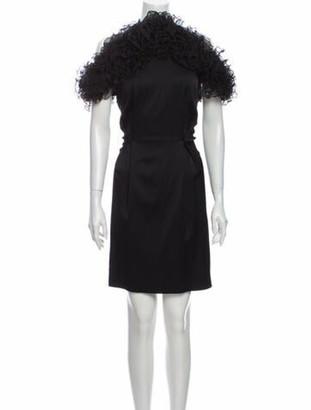 Rodebjer Mock Neck Knee-Length Dress w/ Tags Black
