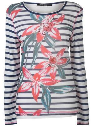 MARC AUREL Long Sleeve Striped T Shirt
