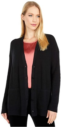 Eileen Fisher Boyfriend Cardigan (Black) Women's Clothing