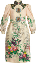 Gucci Embellished floral-cloqué coat