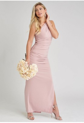 Revie London Angelina Maxi Dress in Blush