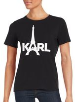 Karl Lagerfeld Solid Eiffel Tower Tee