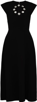Christopher Kane Crystal Cut-Out Detail Dress