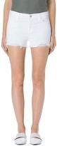 J Brand Raw Hem Mid-Rise Short In Razed Blanc